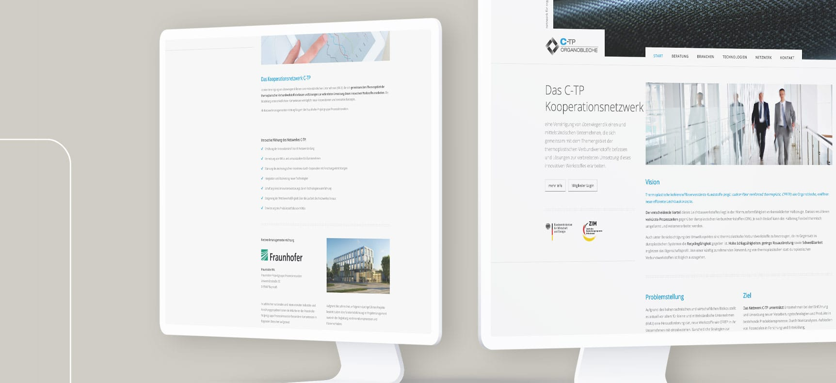 CTP-Netzwerk für Fraunhofer | Website erstellt von StatusZwo.com