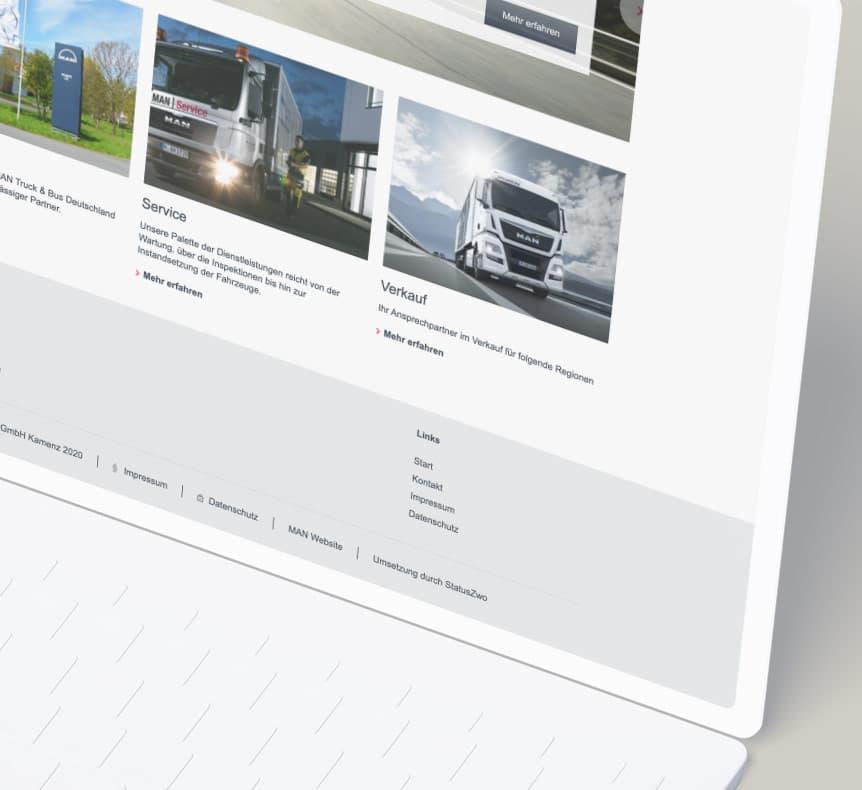 MAN - NSK Nutzfahrzeuge Service Kamenz GmbH | Website erstellt von StatusZwo.com