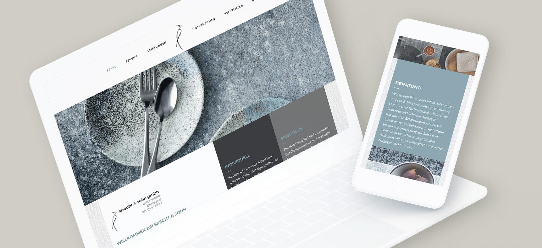 Specht & Sohn GmbH - Siebdruckerei | Website erstellt von StatusZwo.com