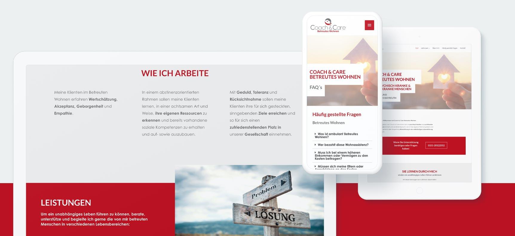 Coach&Care Betreutes Wohnen | Website erstellt von StatusZwo.com
