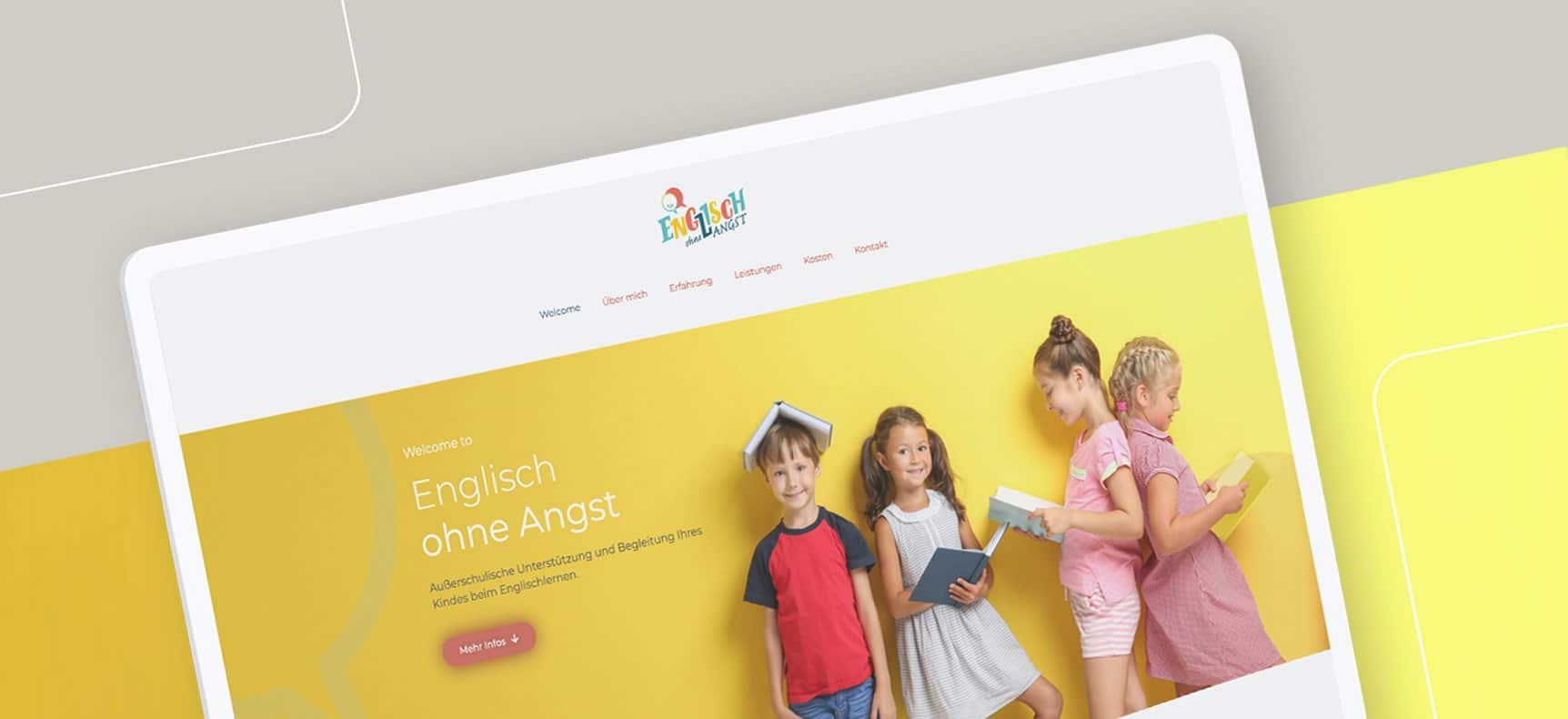 Englisch ohne Angst Sprachtraining für Kinder | Logo & Webdesign erstellt von StatusZwo.com