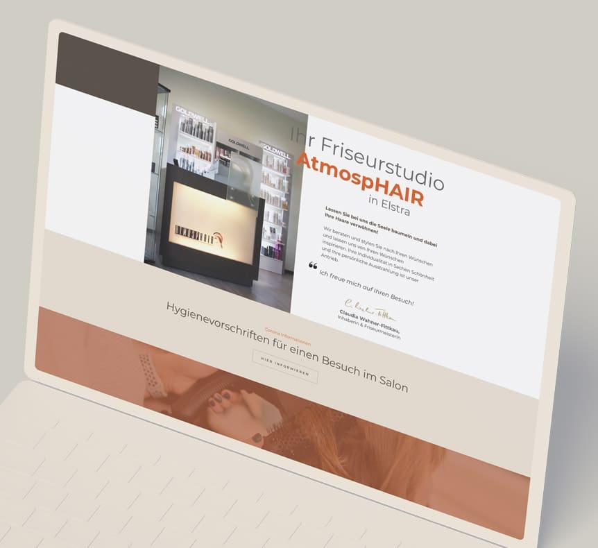 Friseurstudio AtmospHair | Website erstellt von StatusZwo.com
